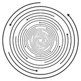 Circular concentric arrows. Cyclic, cycle arrows. Arrow element Royalty Free Stock Images
