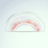 Circular concentric design element Stock Photos