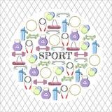 Circular concept of sport equipment background. Vector illustration design Stock Image