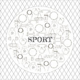 Circular concept of sport equipment background. Vector illustration design Royalty Free Stock Image