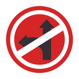 Circular contour road sign prohibited turn right Royalty Free Stock Photos