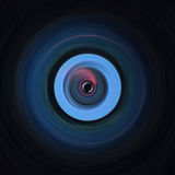 Circular contrasting black and blue art Royalty Free Stock Image