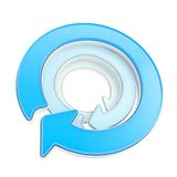 Circular copyspace emblem icon Royalty Free Stock Image