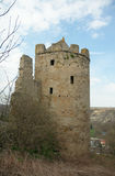 Circular corner tower of Rudelsburg castle, Germany Royalty Free Stock Images