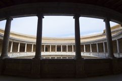 Circular courtyard Royalty Free Stock Photo
