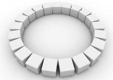 Circular cubes Stock Photo
