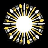 Circular cutlery design Royalty Free Stock Photo