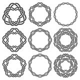 Circular decorative elements for design Stock Images