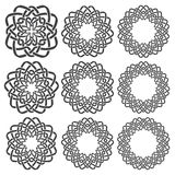 Circular decorative elements for design Stock Image