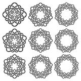 Circular decorative elements for design Stock Photos