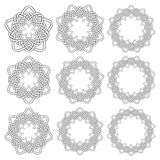 Circular decorative elements for design Royalty Free Stock Photos