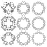 Circular decorative elements for design Royalty Free Stock Images