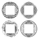 Circular decorative geometric ethnic frame patterns set ornament vector illustration Stock Photo