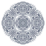 Circular decorative geometric ethnic pattern ornament vector illustration Royalty Free Stock Photo