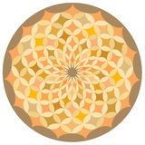 A circular decorative pattern. Stock Image