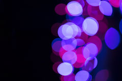Circular defocused lights. Pattern of defocused blue and red lights Royalty Free Stock Photos