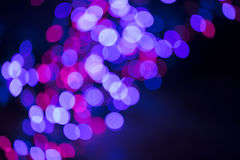 Circular defocused lights. Pattern of defocused blue and red lights Stock Photography