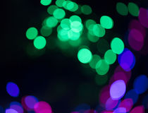 Circular defocused lights. Pattern of defocused blue and red lights Royalty Free Stock Image