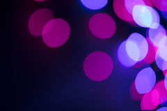 Circular defocused lights. Pattern of defocused blue and red lights Stock Photo