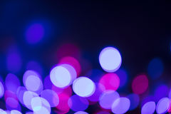 Circular defocused lights. Pattern of defocused blue and red lights Royalty Free Stock Photography