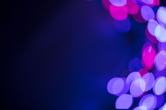 Circular defocused lights. Pattern of defocused blue and red lights Royalty Free Stock Images