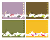 Circular design background. Whimsical dot and circle design on four variations with open space for copy Royalty Free Illustration