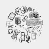 Circular design of electronic gadget Stock Photography