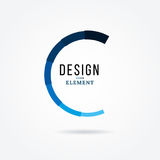 Circular design element. Abstract  illustration with preload bar. Royalty Free Stock Photography