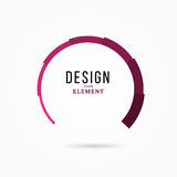 Circular design element. Abstract  illustration with preload bar. Stock Images