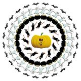Circular design for Halloween stock photo