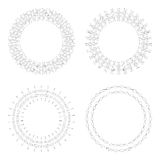 Circular design templates . Round decorative patterns. Set of creative Mandala isolated on white. Stock Image