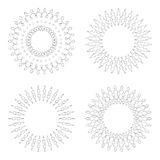 Circular design templates . Round decorative patterns. Set of creative Mandala isolated on white. Stock Images