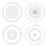 Circular design templates . Round decorative patterns. Set of creative Mandala isolated on white. Royalty Free Stock Photos