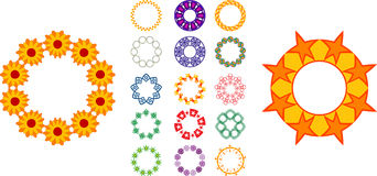 Circular designs. Lots of circular shaped borders, edges and designs Stock Photo