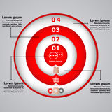 Circular diagram with icons for business concepts Royalty Free Stock Photography
