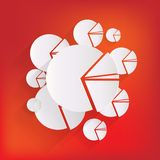 Circular diagram web icon. This is file of EPS10 format Stock Photos