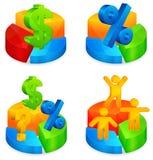 Circular diagrams with symbol Royalty Free Stock Photos