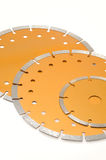 Circular diamond saw blades for stone isolated on Stock Photo