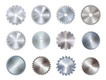 Free Circular Disk Equipment And Sharp Saw Blades Stock Image - 138528361
