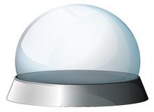 A circular dome with a silver holder Royalty Free Stock Photos