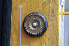 Circular door bell Royalty Free Stock Photography