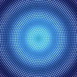 Circular Dots Pattern brillante del extracto en el fondo azul marino de Gradated ilustración del vector