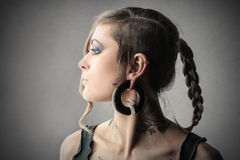 Circular earring Royalty Free Stock Images