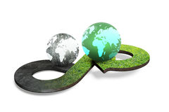 Circular economy concept, 3D rendering Royalty Free Stock Photography