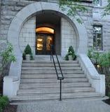 Circular entrance. A circular entrance in late evening Stock Images
