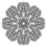 Circular ethnic ornament. Mandala monochrome Royalty Free Stock Photo
