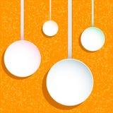 A circular etiqueta a disposição do diagrama Imagem de Stock