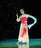 Circular fan-classical dancing Royalty Free Stock Photos