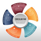 Circular Fan Infographic Royalty Free Stock Photography