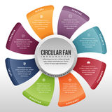 Circular Fan Infographic Royalty Free Stock Images
